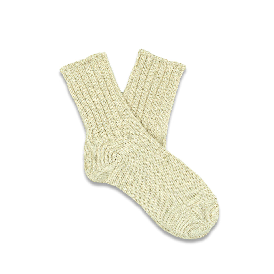 Glitter Rib Crew Socks - White (Women's)