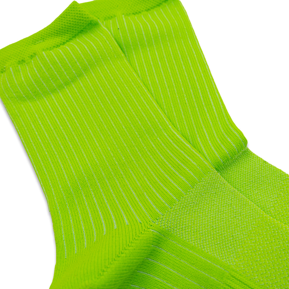 Mesh Neon Crew Socks - Green (Women's)