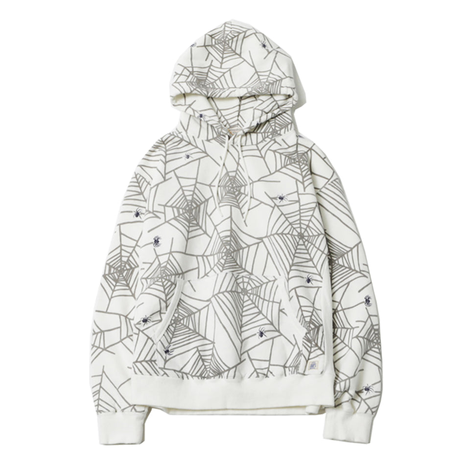 SPIDER WEB SWEAT HOODIE - WHITE