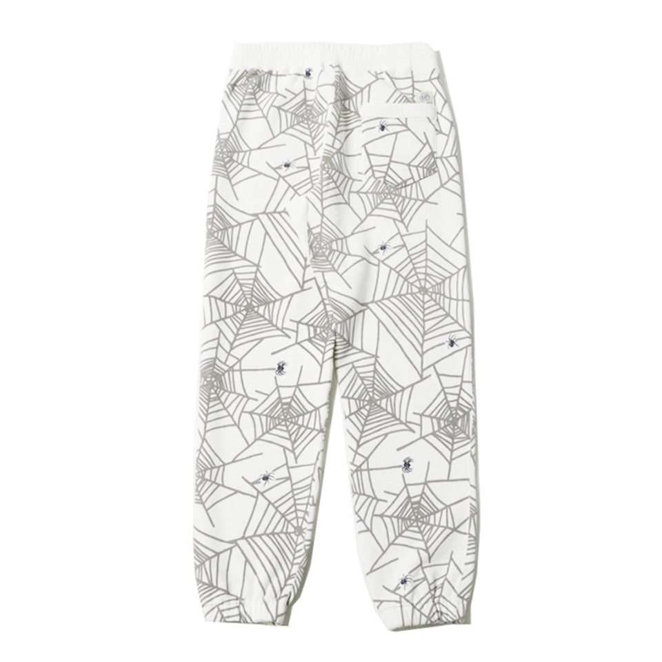 SPIDER WEB SWEAT PANTS - WHITE