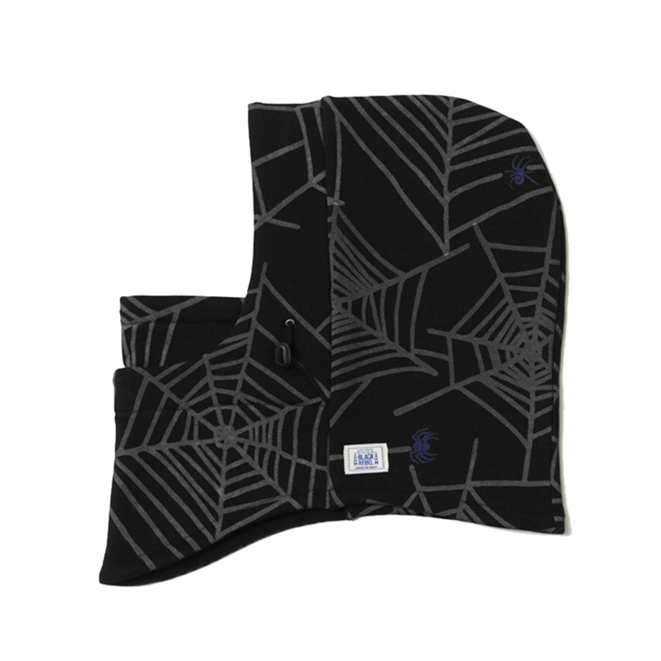SPIDER WEB SKI MASK - BLACK