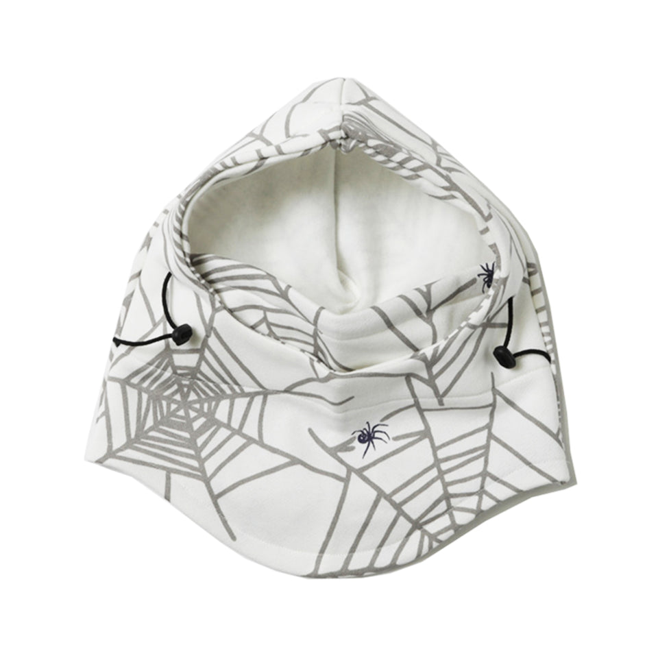 SPIDER WEB SKI MASK - WHITE