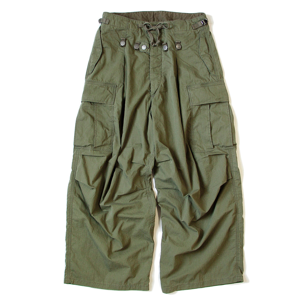 RIP STOP BUGGY CARGO PANTS - OLIVE