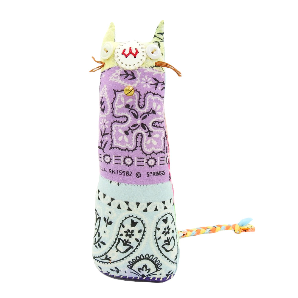 PATCHWORK BANDANA CAT PAPER HOLDER - BANDANA
