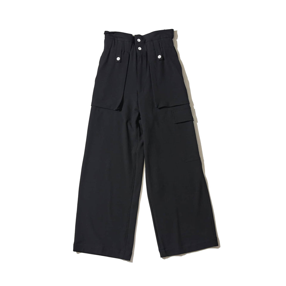 BRUSHED EASY FATIGUE PANTS - BLACK