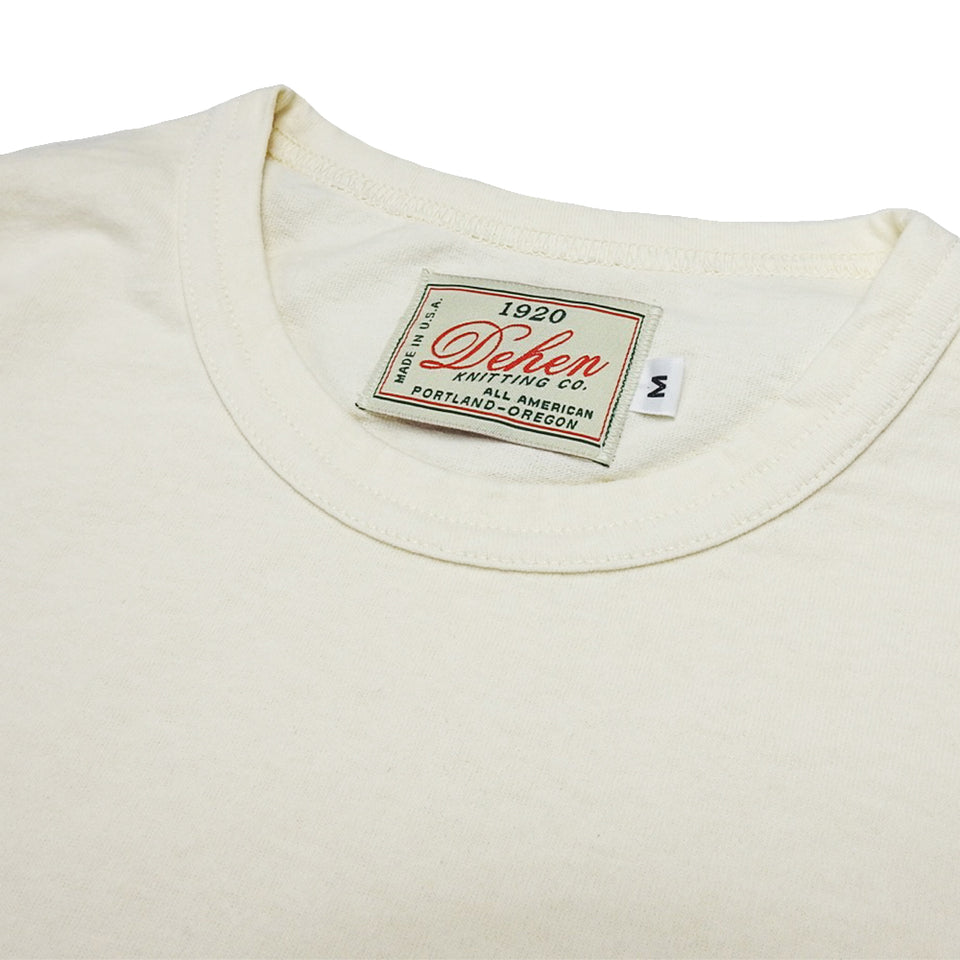 DEHEN 1920 - HEAVY DUTY SINGLE POCKET L/S TEE - NATURAL