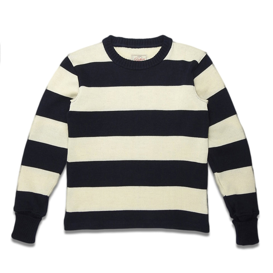 DEHEN 1920 - STRIPED NAVAL CREW - NAYY/OFF-WHITE