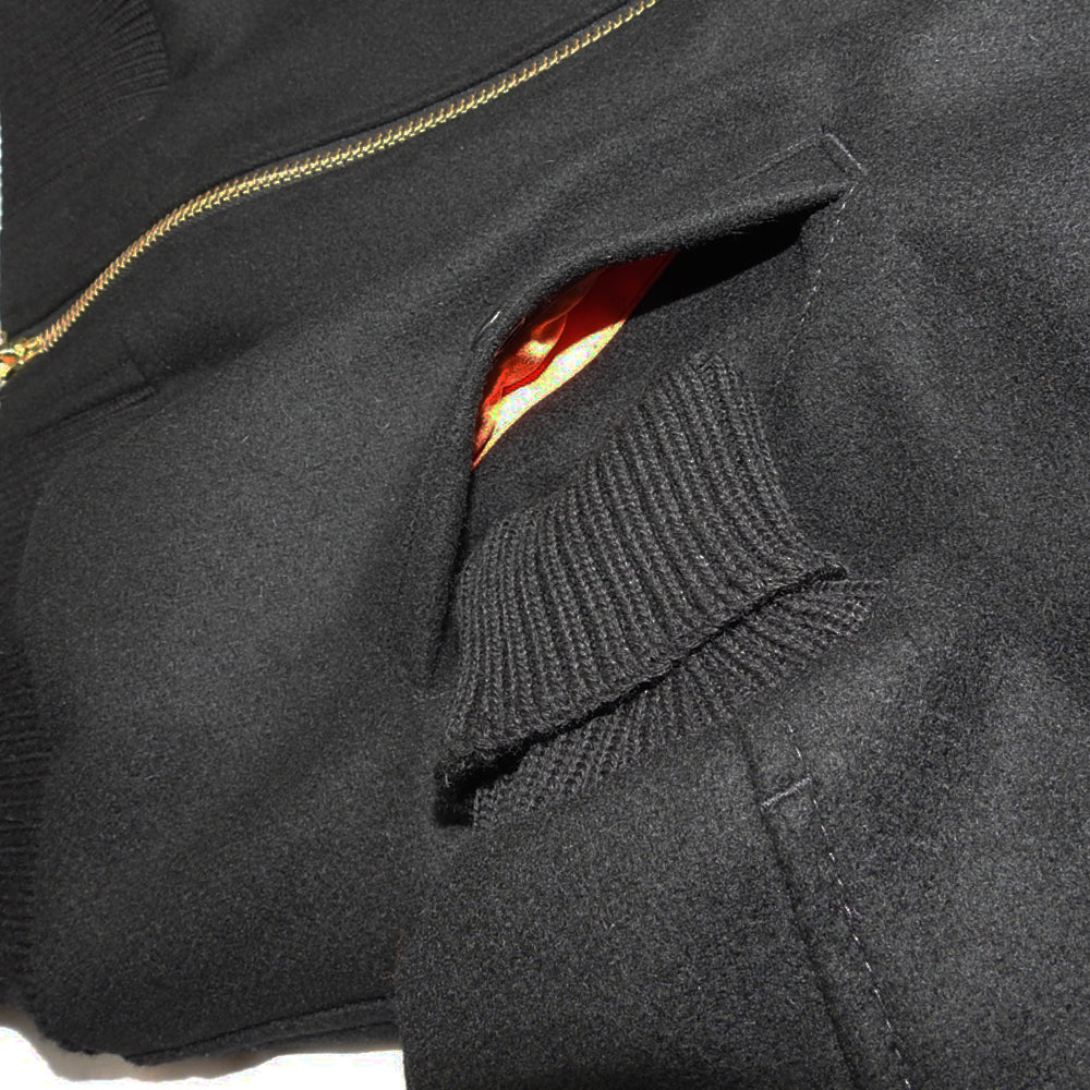 DEHEN 1920 - FLYER'S CLUB JACKET - BLACK/BLACK