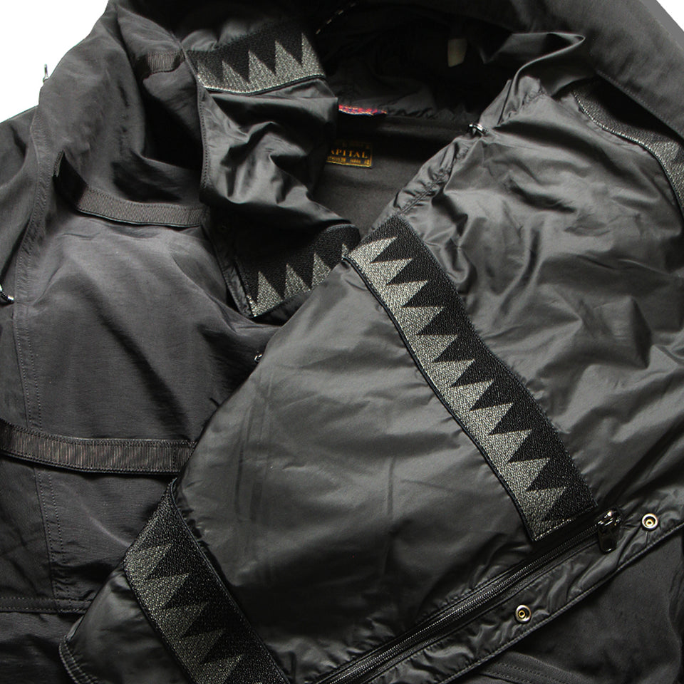 60/40 CLOTH KAMAKURA ANORAK JACKET - BLACK