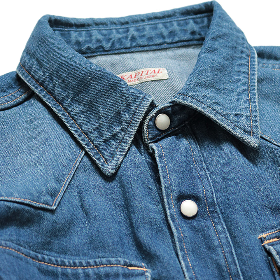 8oz DENIM WESTERN SHIRT (PRO) - INDIGO