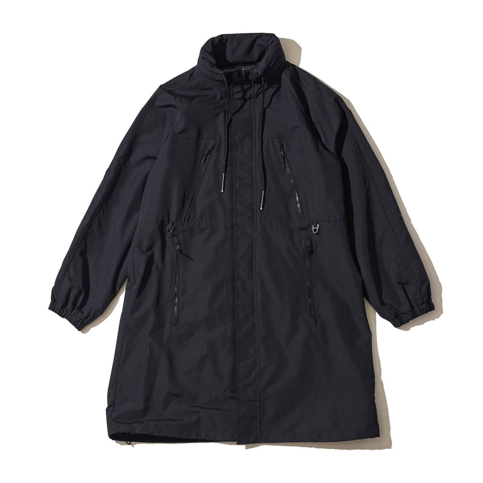 WEATHER PROOF ECO NYLON GAME COAT - BLACK