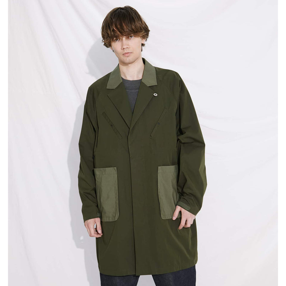 CHESTERFIELD COAT - OLIVE