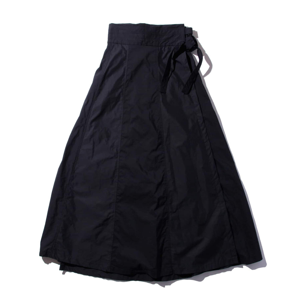 F/CE® - SWITCHED WRAP LONG SKIRT - BLACK