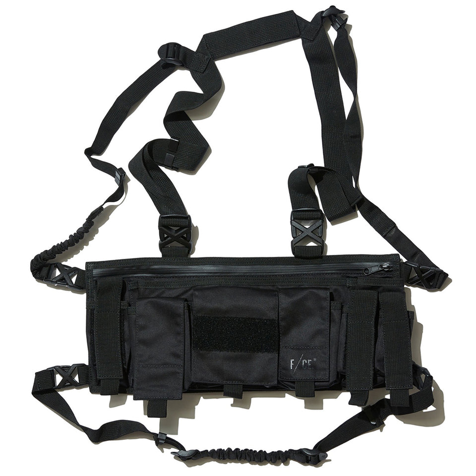 SATIN UTILITY VEST BAG - BLACK