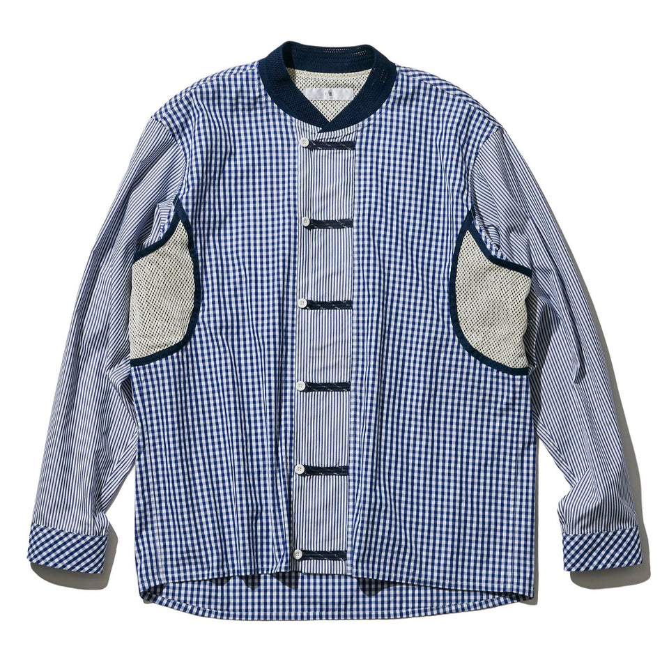 FRONT LOOP SHIRT JACKET - BLUE