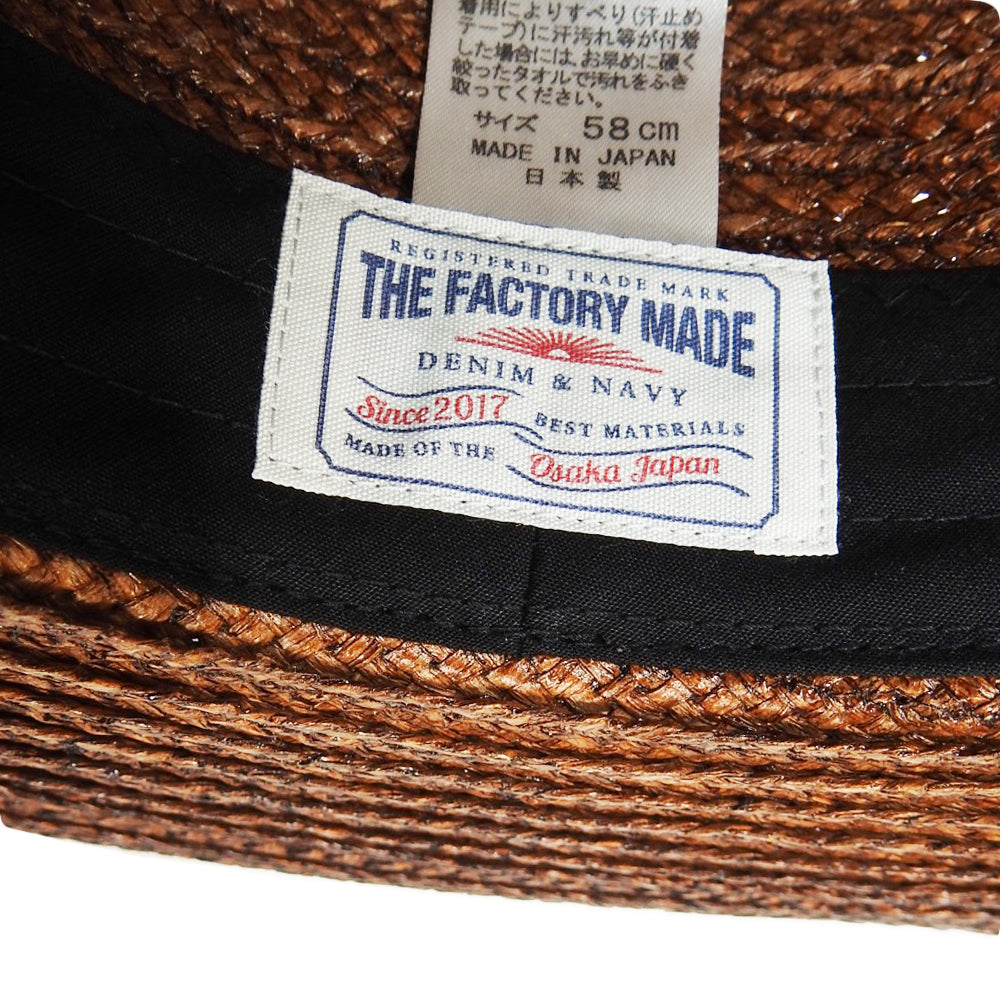 THE FACTORY MADE - BOATER HAT - NAVY