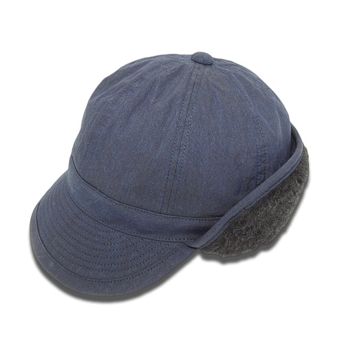 THE FACTORY MADE - ALPACA FLIGHT CAP - NAVY