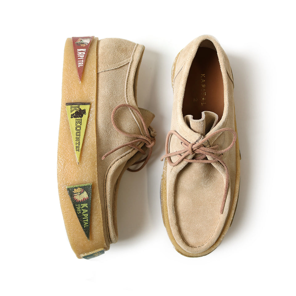 LEATHER SUEDE WALLABEES (PENNANT CREPE SOLE) - BEIGE