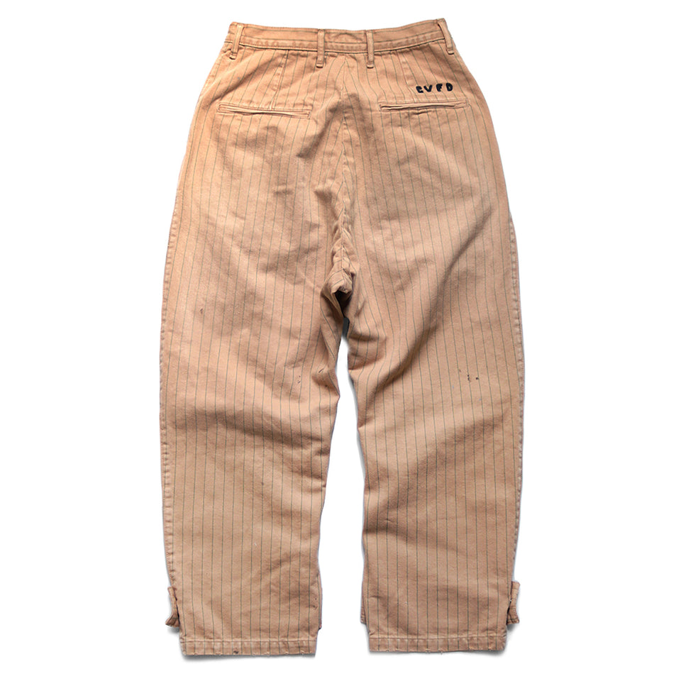 HERRINGBONE COTTON COKE-STRIPE WORK PANTS - LIGHT ORANGE