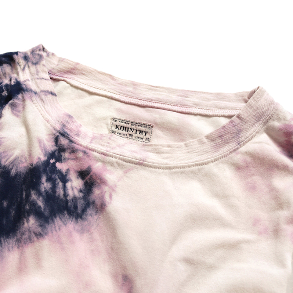 JERSEY BANDANA BURN-OUT RELAXED FIT TEE (ASHBURY DYED) - PURPLE