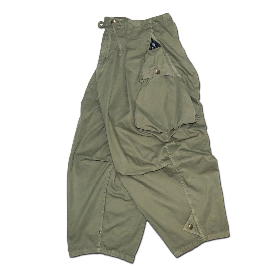 HIGH DENSITY TWILL CARGO PANTS - OLIVE