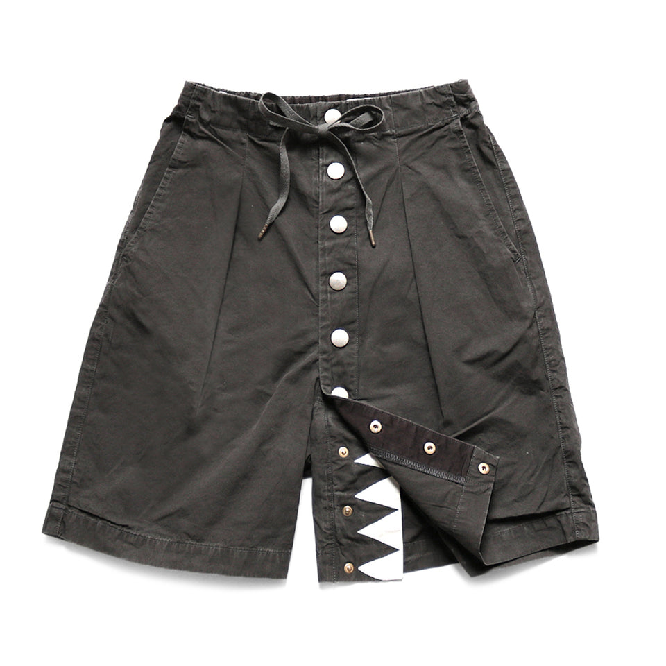 COTTON SURF COWBOY SHORT PANTS - BLACK