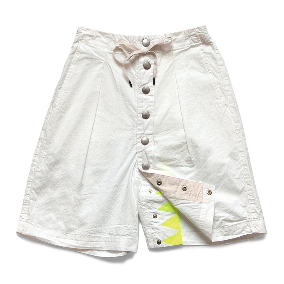 KAPITAL - COTTON SURF COWBOY SHORT PANTS - WHITE at Mannahatta NYC