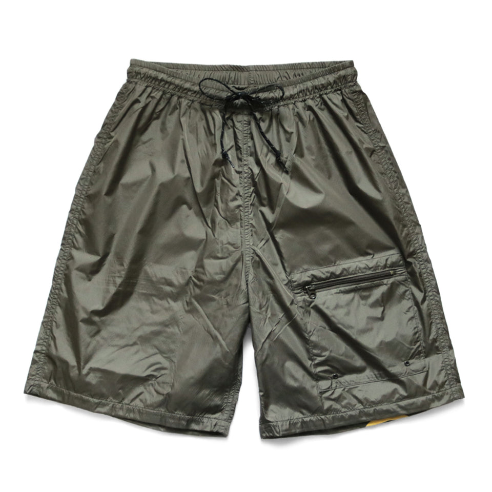 NYLON SWIM TRUNKS (RAIN SMILE) - OLIVE
