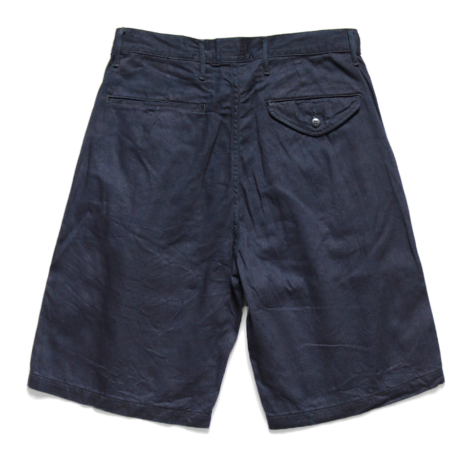 8oz DENIM SHORT PANTS (THUNDER SASHIKO) - INDIGO