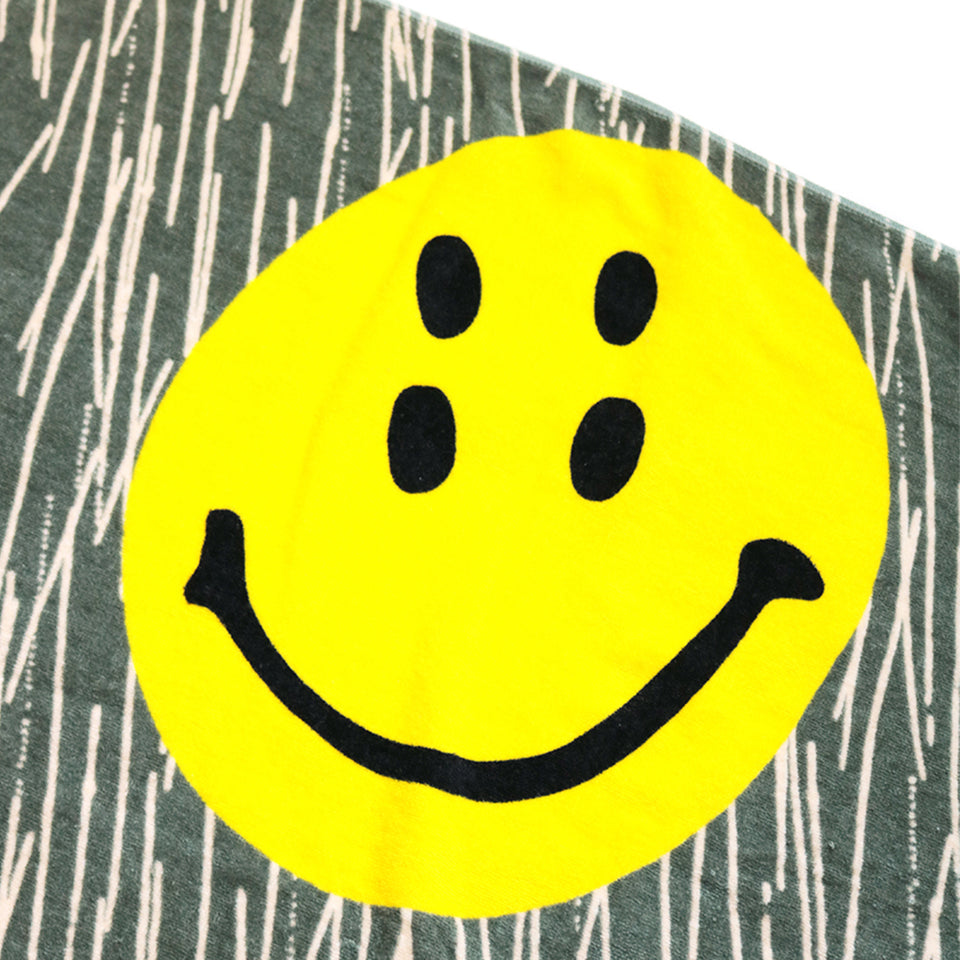 COTTON RAIN SMILE BEACH TOWEL (TOO-YOU) - OLIVE