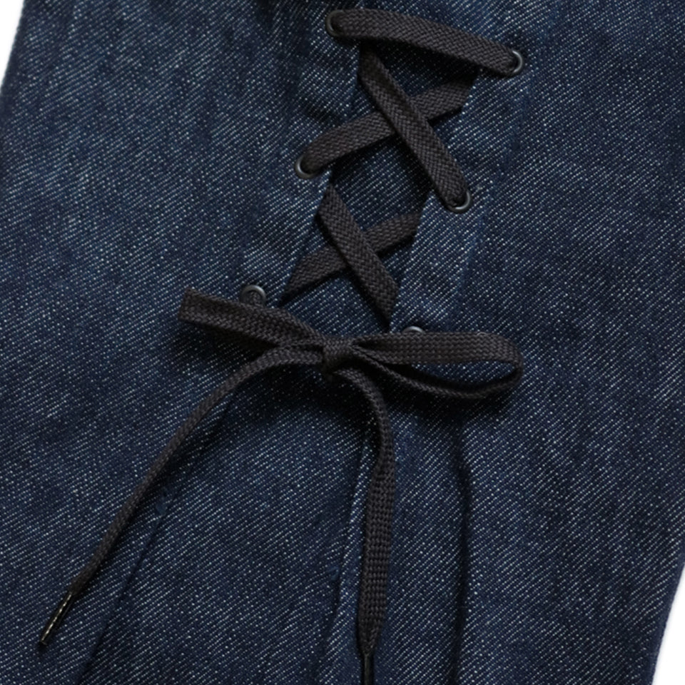 12.5oz DENIM WALLABEE FLARE PANTS - INDIGO