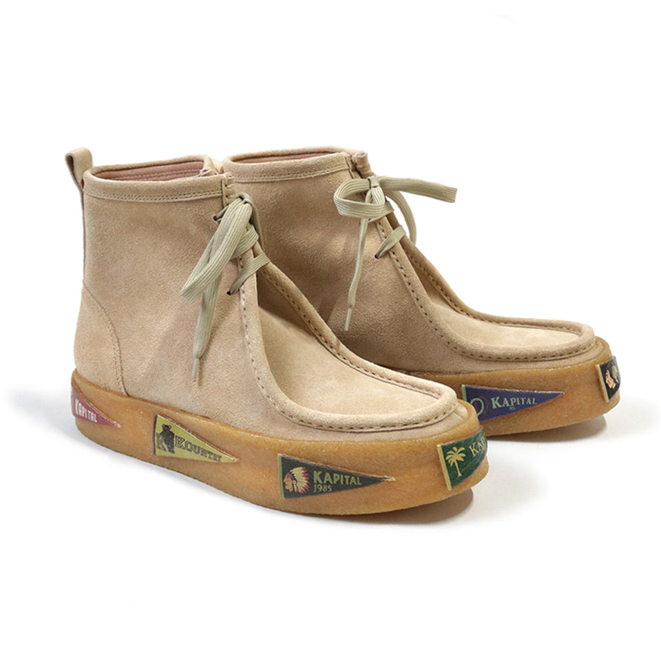 LEATHER PENNANTS WALLABEE BOOTS - BEIGE