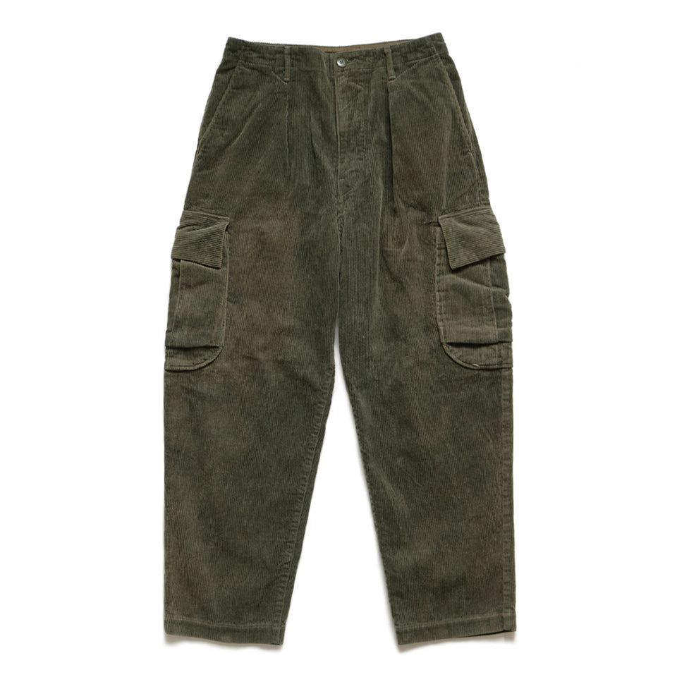 8W CORDUROY WALLABEE CARGO PANTS - GREEN