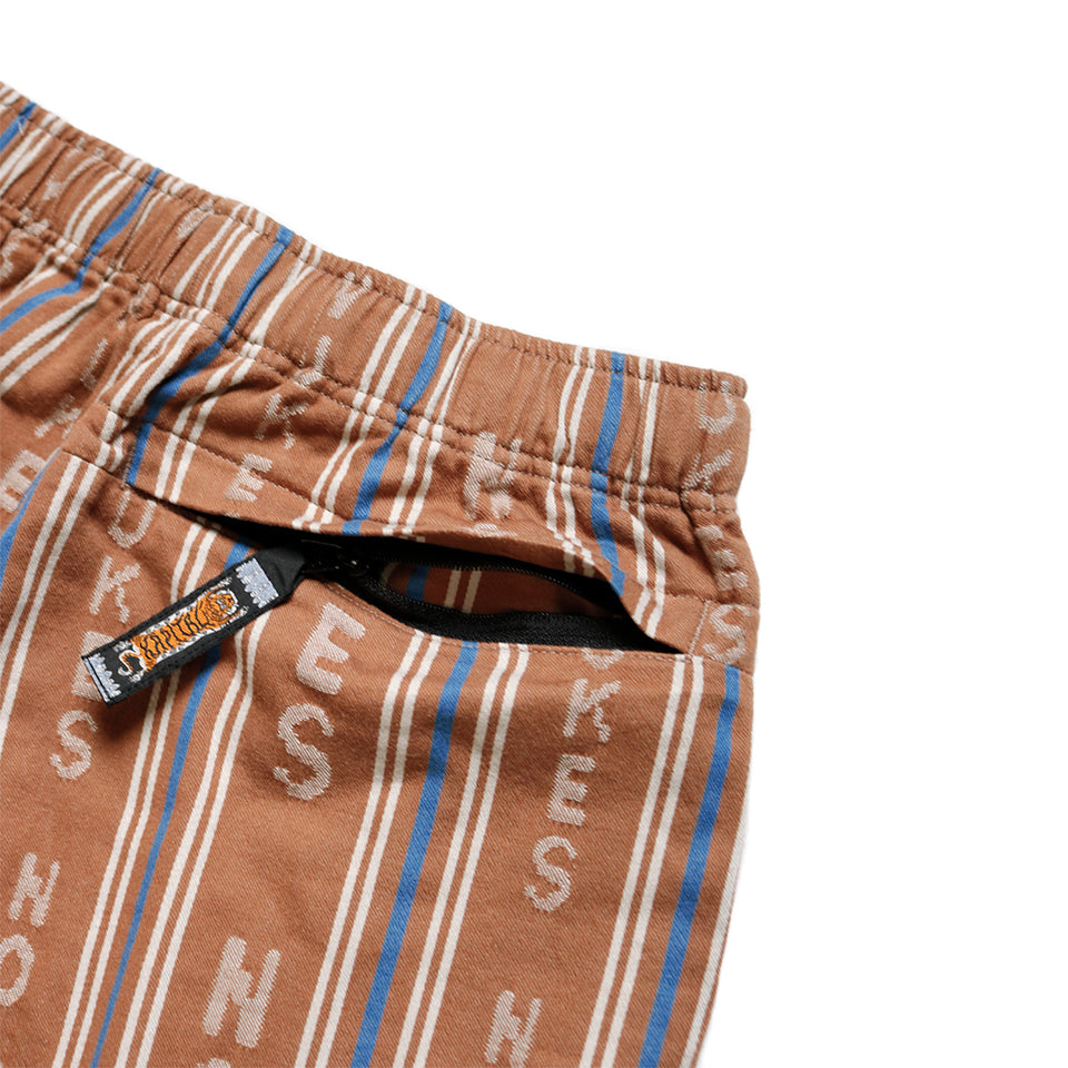 HOPE STRIPE EASY SHORTS - BROWN