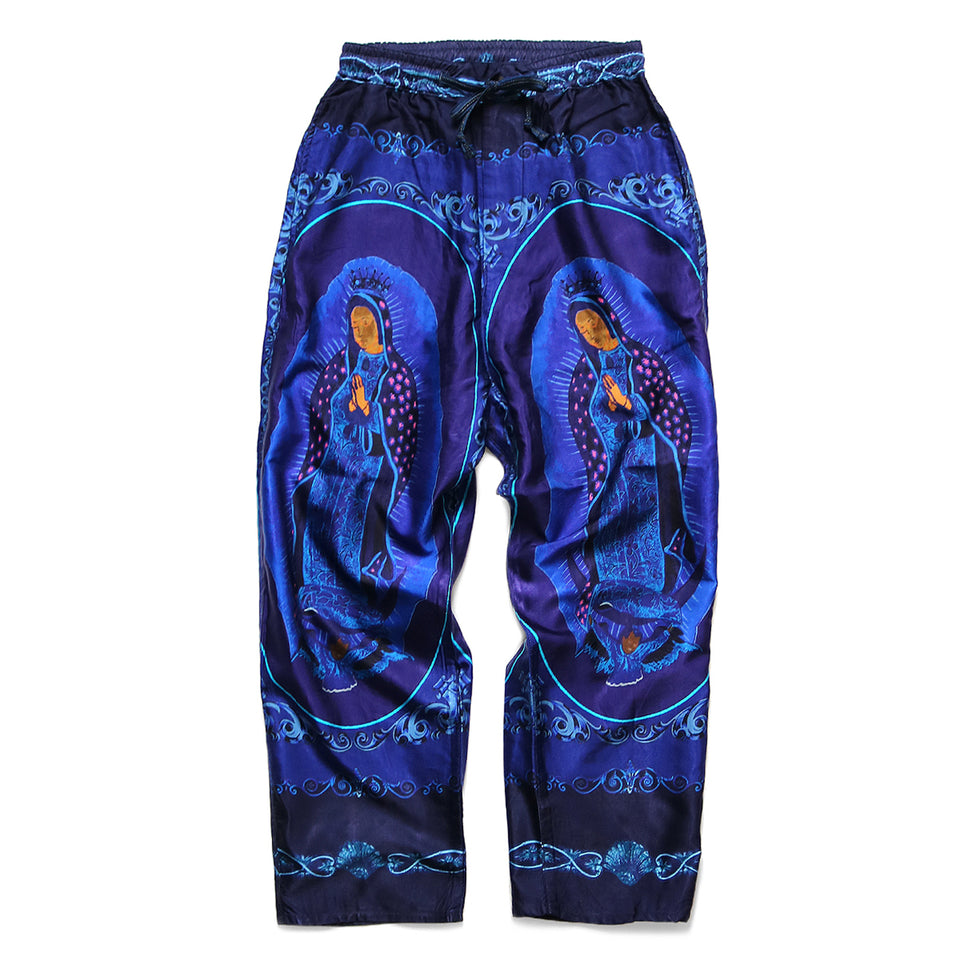 COTTON RAYON VIRGIN MARY EASY PANTS - PURPLE