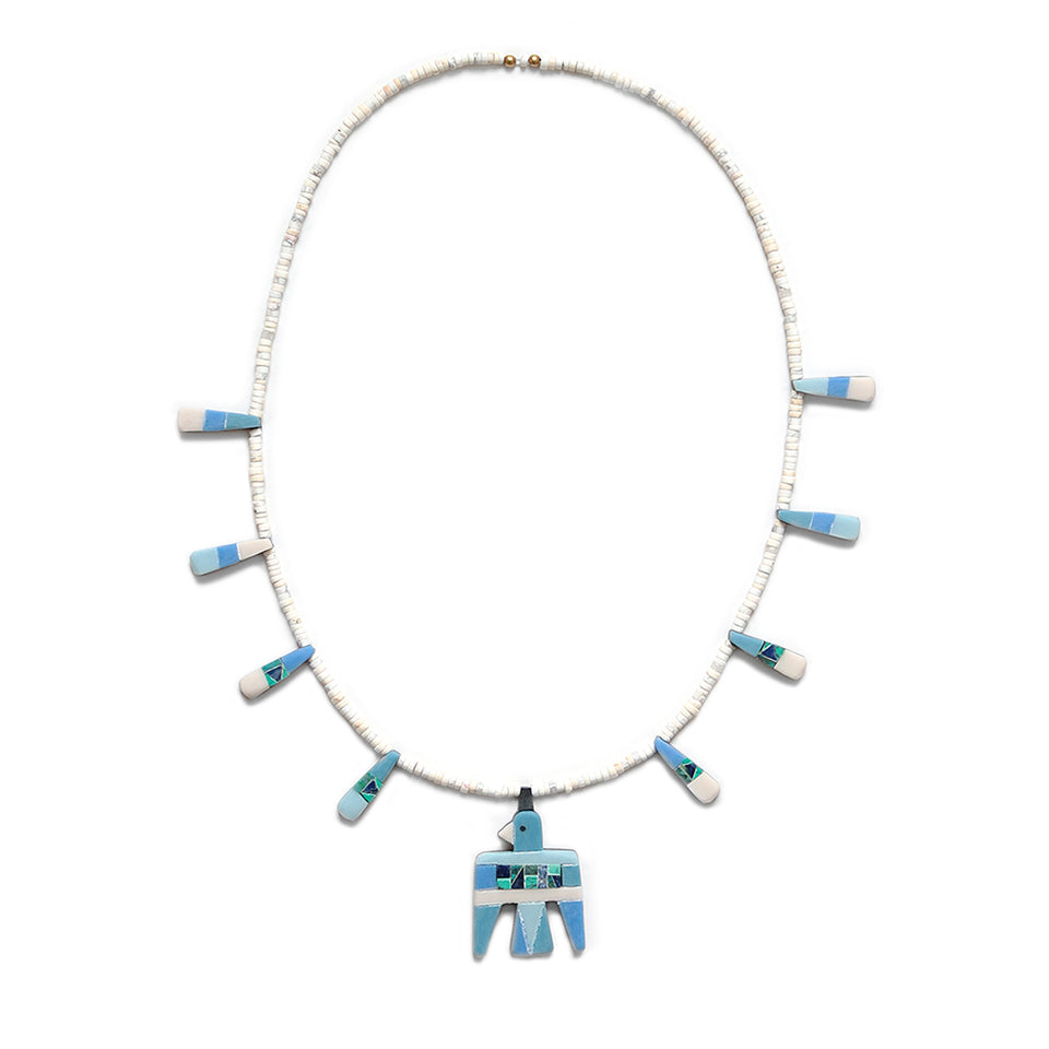 KAPITAL - BATTERY BIRD NECKLACE (S) - TURQUOISE at Mannahatta NYC