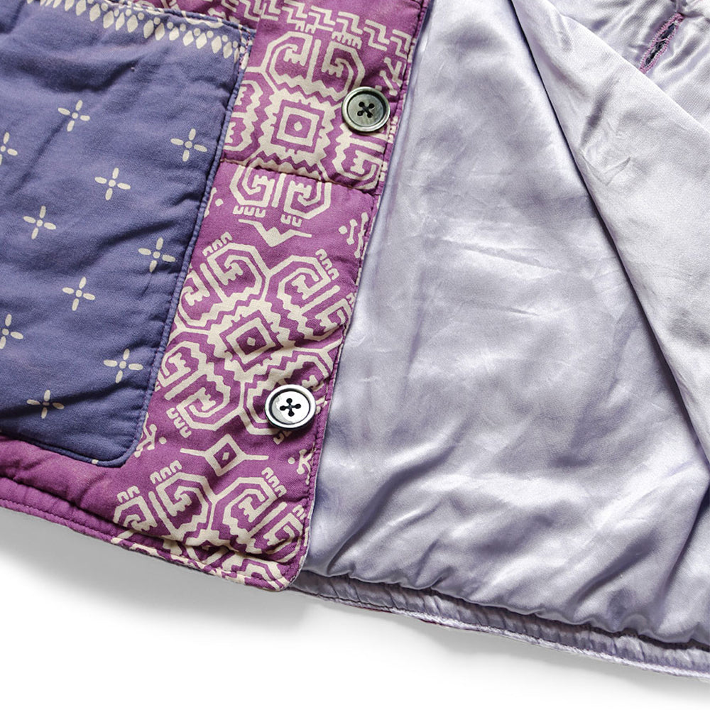 KAPITAL - GAUZE BANDANA PATCHWORK QUILT SAMU WORK BLOUSON - LIGHT PURPLE