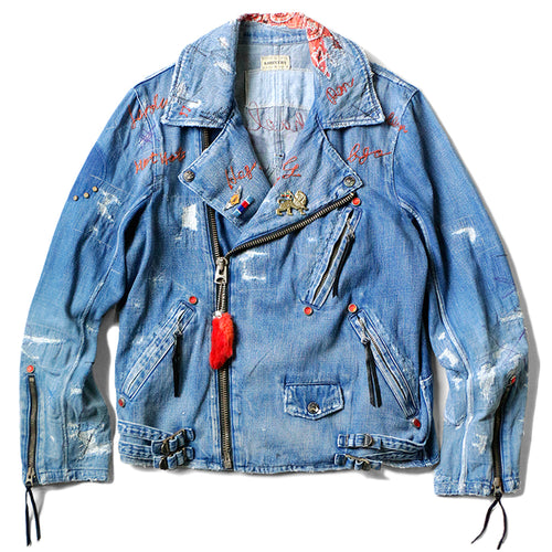 KAPITAL - 11.5oz DENIM RIDERS JACKET (PRO REMAKE) - INDIGO