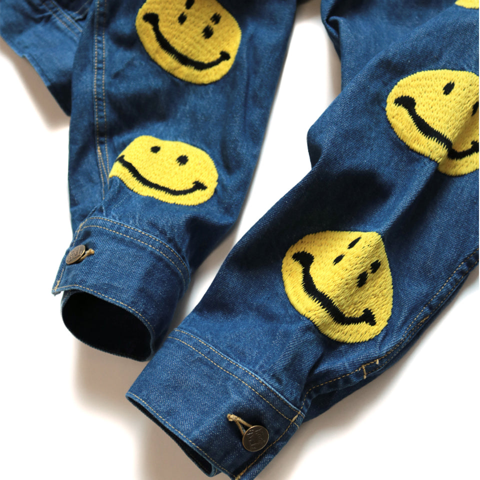 11.5oz DENIM WESTERNER (SMILE EMBROIDERY) - INDIGO