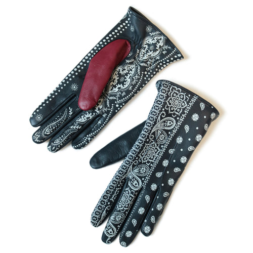 KAPITAL - LEATHER BANDANA GLOVES
