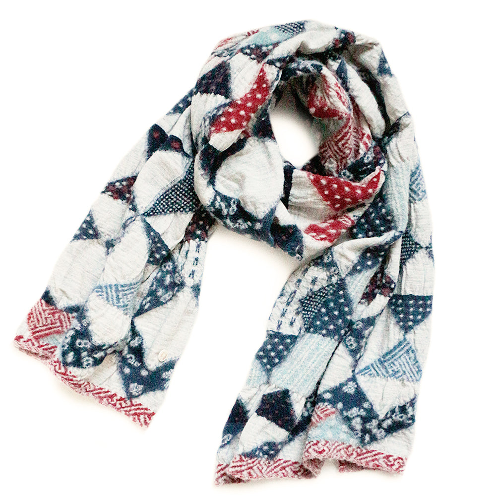 KAPITAL - COMPRESSED WOOL SCARF PATCHWORK QUILT - TRICO