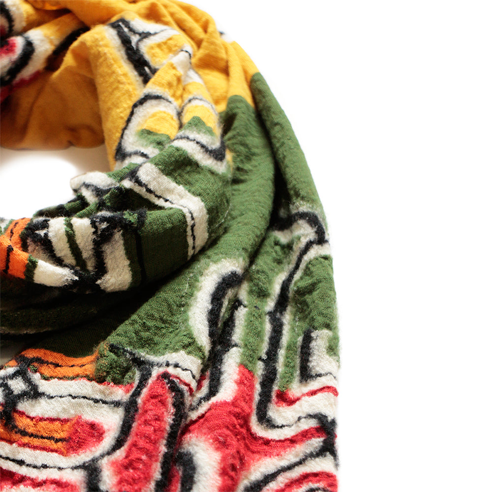 KAPITAL - COMPRESSED WOOL SCARF RASTA AINU
