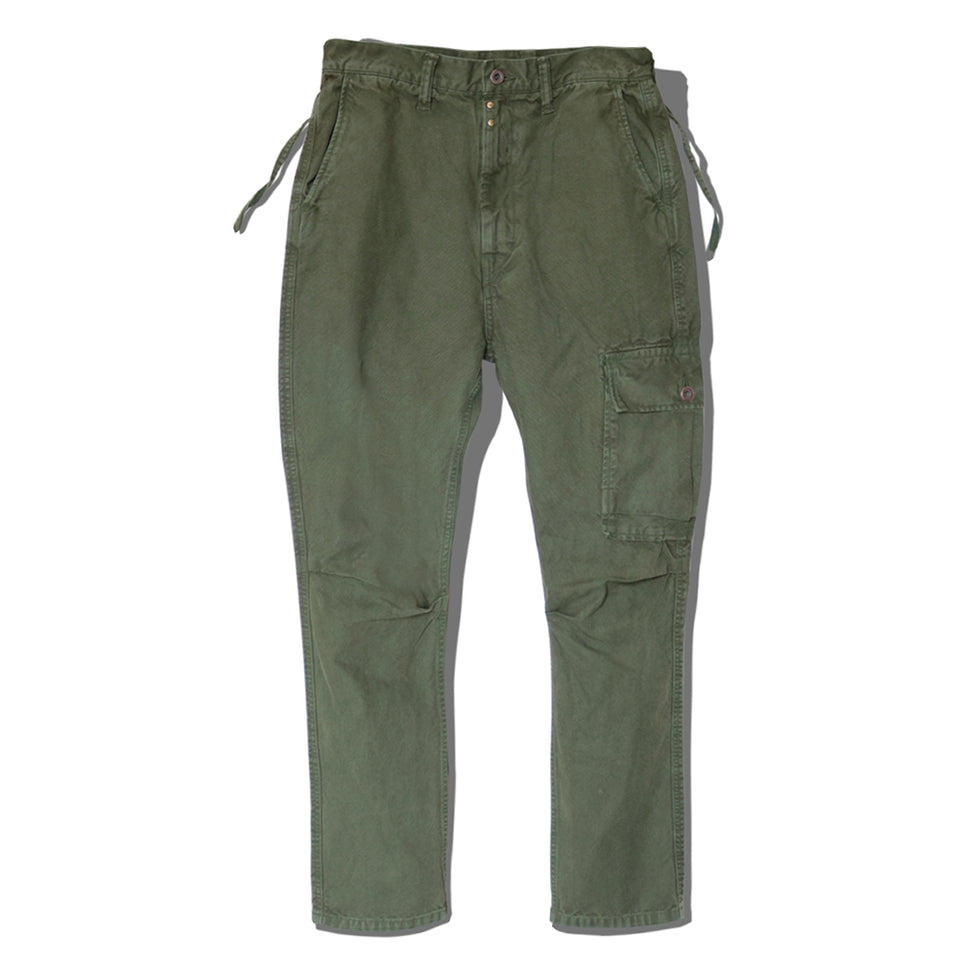LIGHT CANVAS RINGOMAN CARGO PANTS - OLIVE