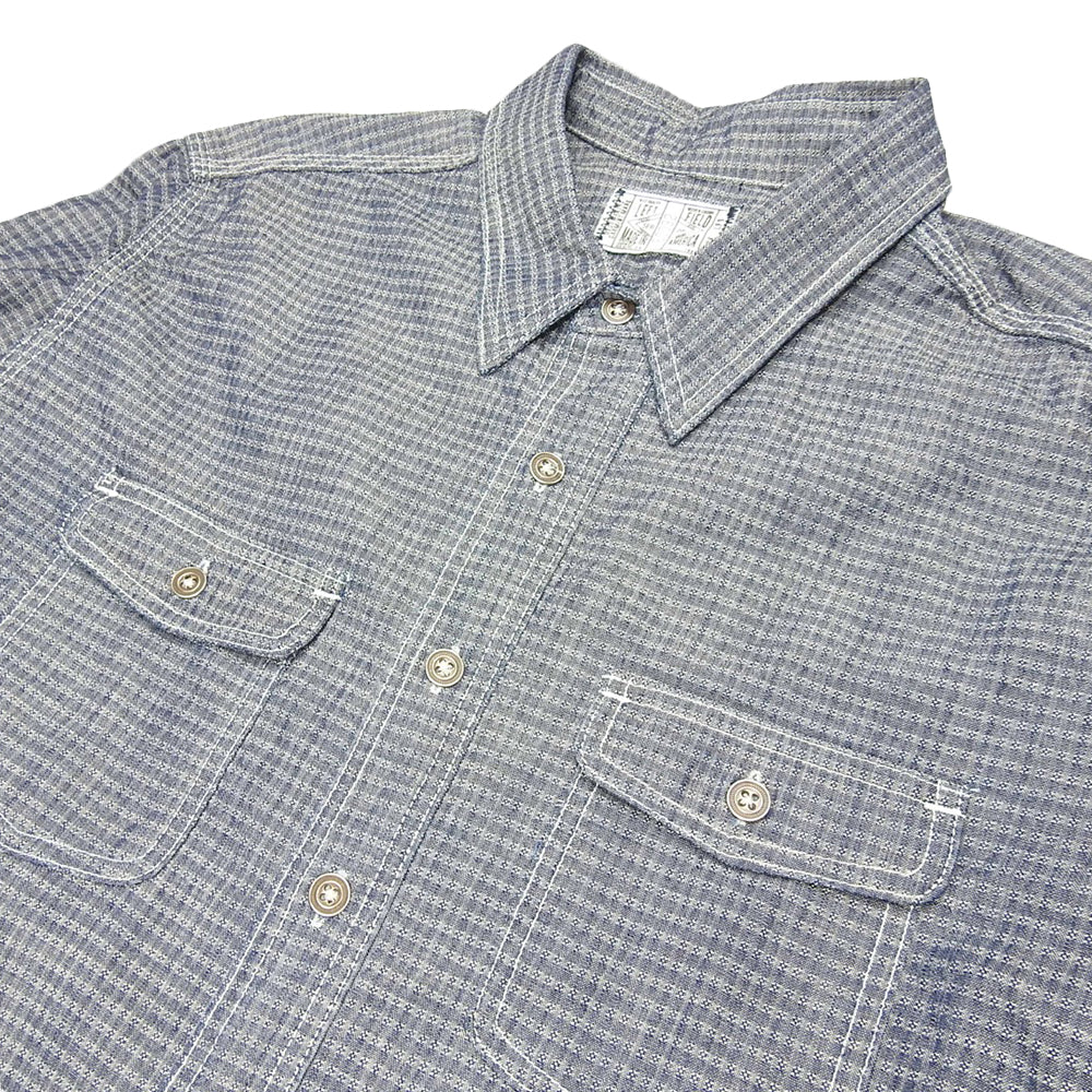 LEFT FIELD - 6.5oz DEAD STOCK CONE WHITE OAK DOBBY CHAMBRAY DUST BOWL SHIRT