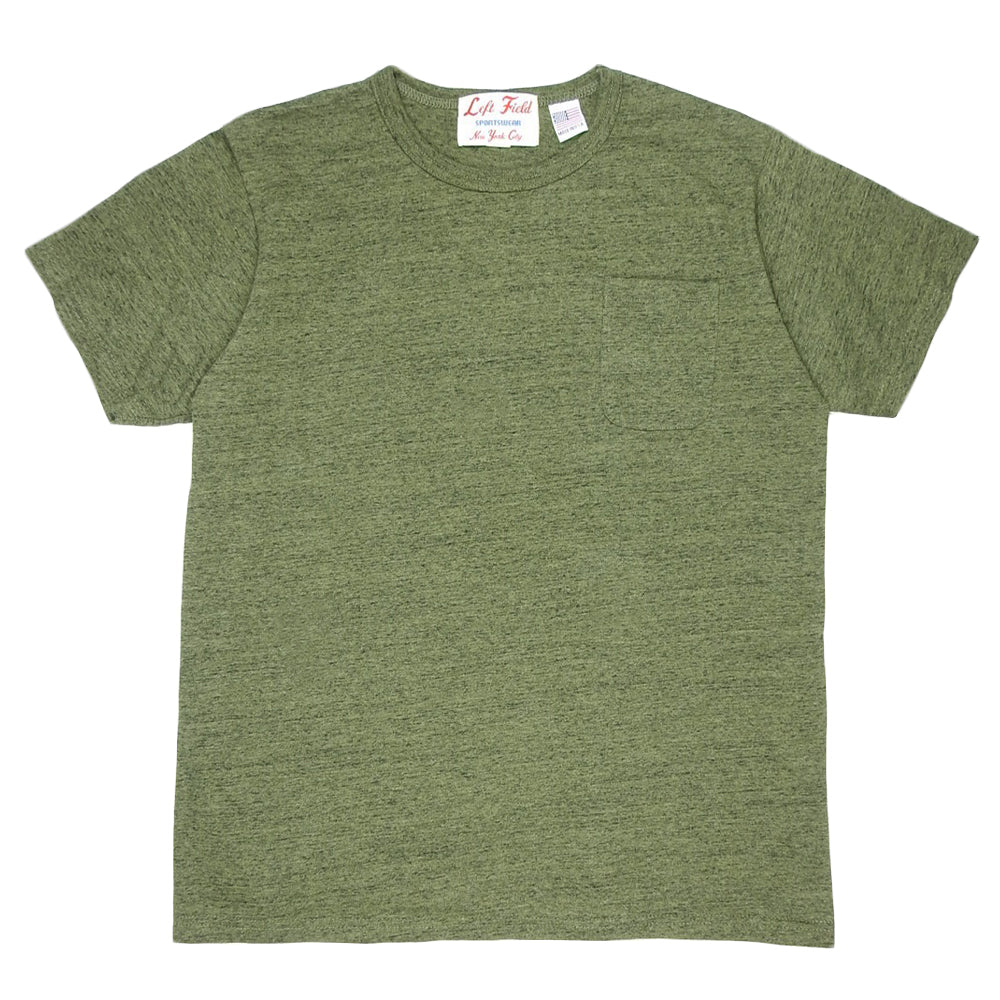 LEFT FIELD - VIETNAM HEATHER POCKET TEE - OLIVE
