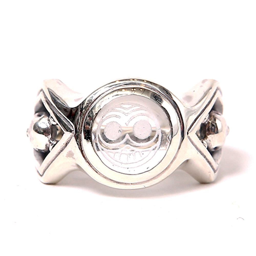 MAGICAL DESIGN - MARKED CRYSTAL RING - SILVER