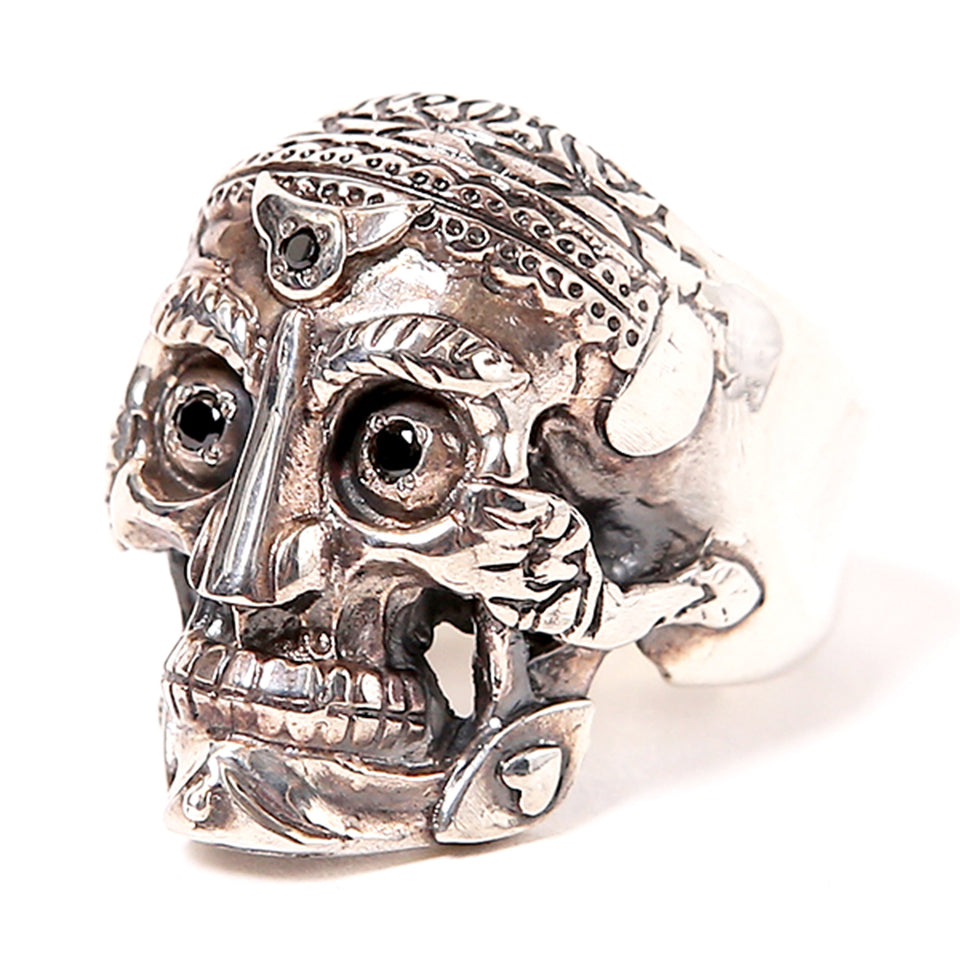 MAGICAL DESIGN - TIBETAN MONK SKULL RING - SILVER