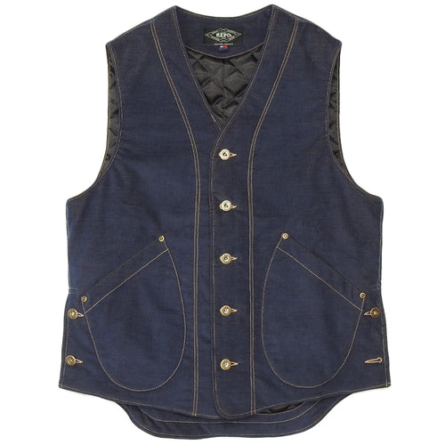 U.S.REPO - LIGHTHOUSE CORDUROY VEST - NAVY