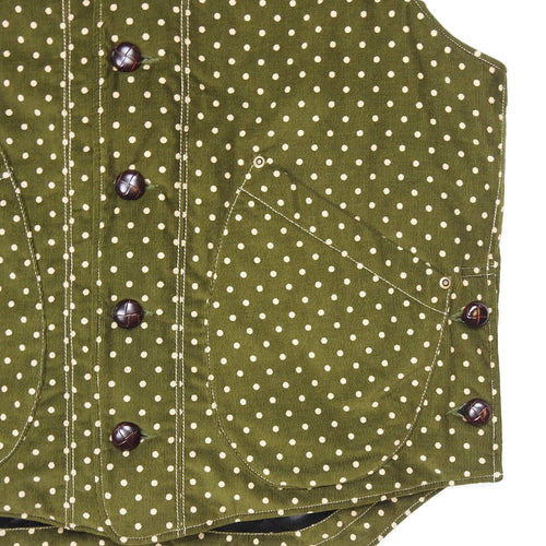 U.S.REPO - LIGHTHOUSE CORDUROY VEST - OLIVE/P.DOT
