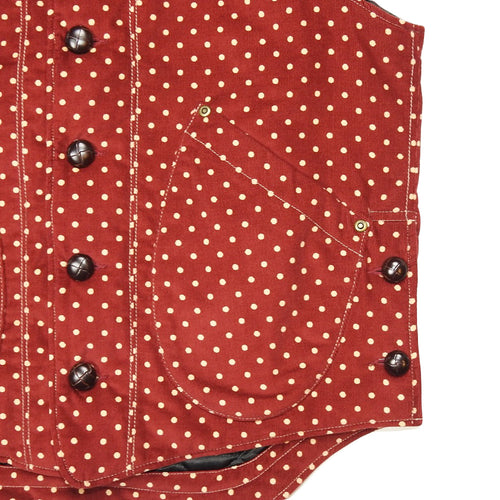 U.S.REPO - LIGHTHOUSE CORDUROY VEST - RED/P.DOT